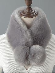 Fashion-Bobble-Faux-Fur-Collar-Wrap-Scarf