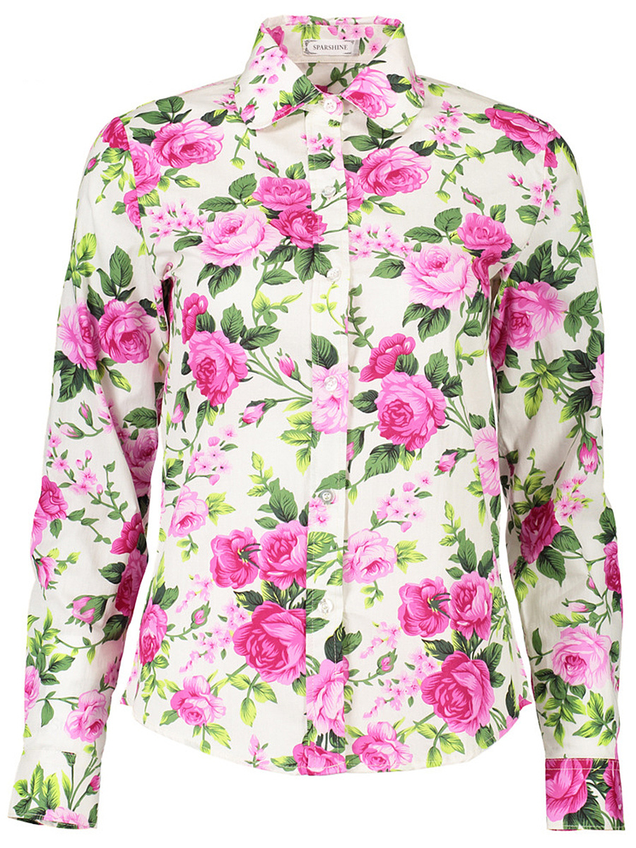 Casual Floral Printed Long Sleeve Blouse