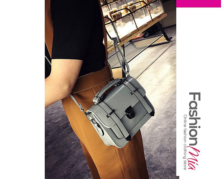 Pu Leather Classic Messenger Bag Crossbody Bag
