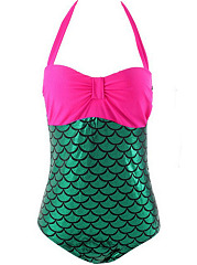 Halter-Fish-Scale-Printed-One-Piece