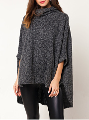 Cowl Neck High-Low Cape