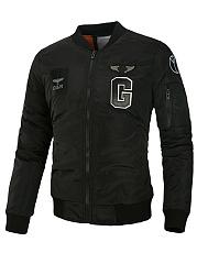 Band-Collar-Pocket-Badge-Men-Bomber-Jacket