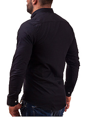 Turn Down Collar  Patch Pocket  Plain  Long Sleeve Long Sleeves