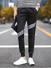 Sport-Striped-Slim-Leg-Mens-Casual-Pants