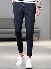 Mens-Sport-Elastic-Waist-Pocket-Jogger-Pants