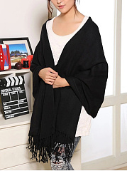 Lady Elegance Fashion Woolen Plain Scarves