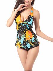 Halter-Printed-Swimwear
