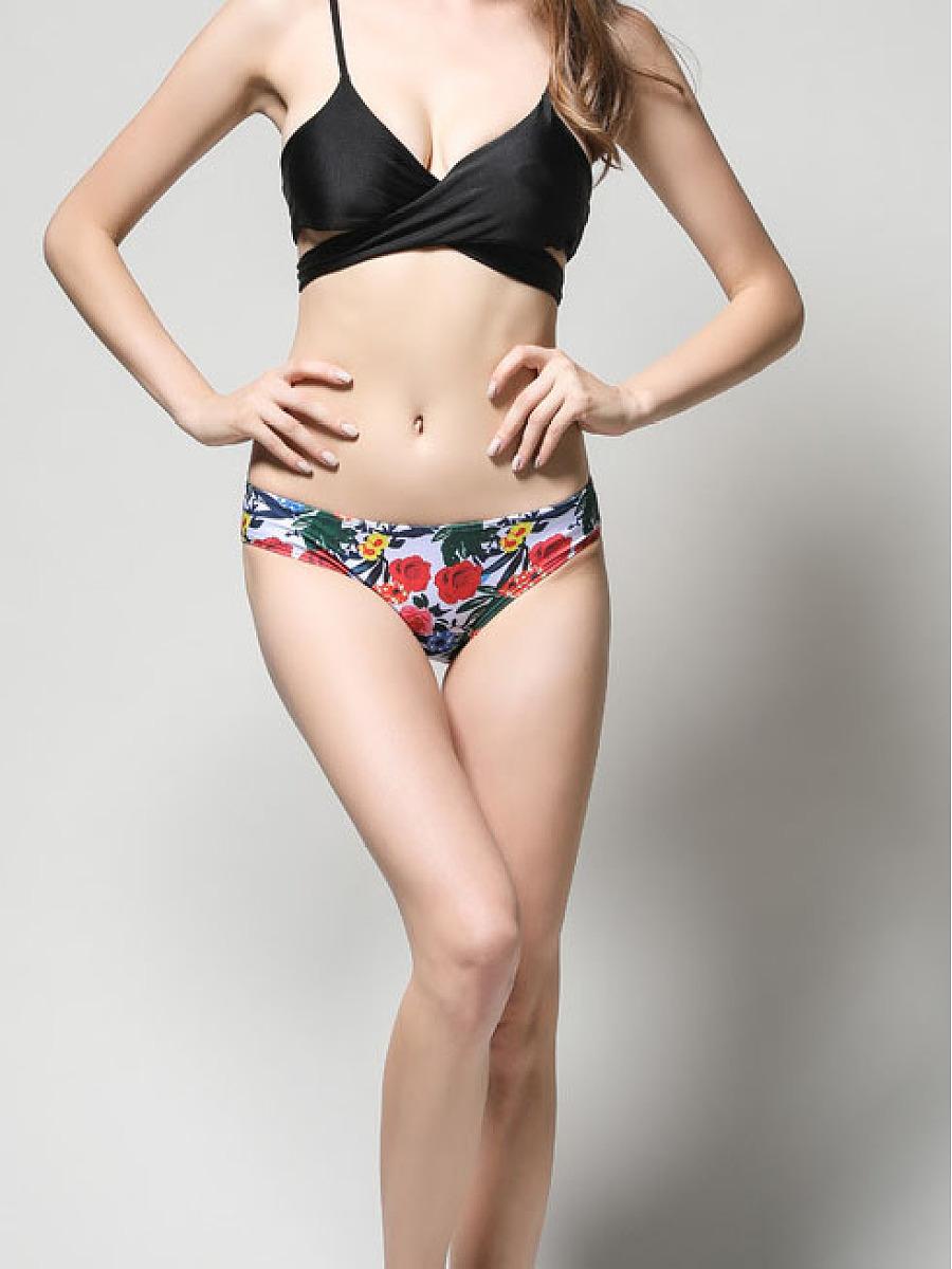 Floral Printed  Mid-Rise Bikini