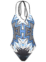 Halter-Lace-Up-Printed-One-Piece