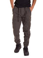 Mens-Casual-Elastic-Waist-Plain-Jogger-Pants