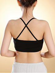 Spaghetti Strap Underwear Backless Wrapped Chest Sleepwear Crop Tank Bra
