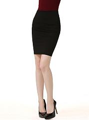Basic-Slit-Solid-Pencil-Midi-Skirt