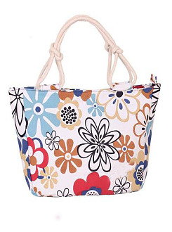 Colorful Popular Floral Printed Canvas Hand Bag