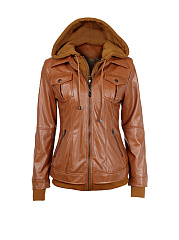 Detachable-Hood-Flap-Pocket-Zips-Plain-Jackets
