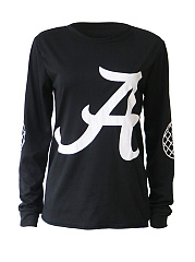 Round Neck Sweatshirt With A Initial Print