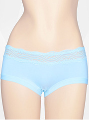Lace Patchwork Cotton Underpant