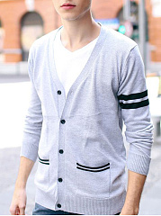 Patch-Pocket-Single-Breasted-Striped-Mene28099S-Cardigan