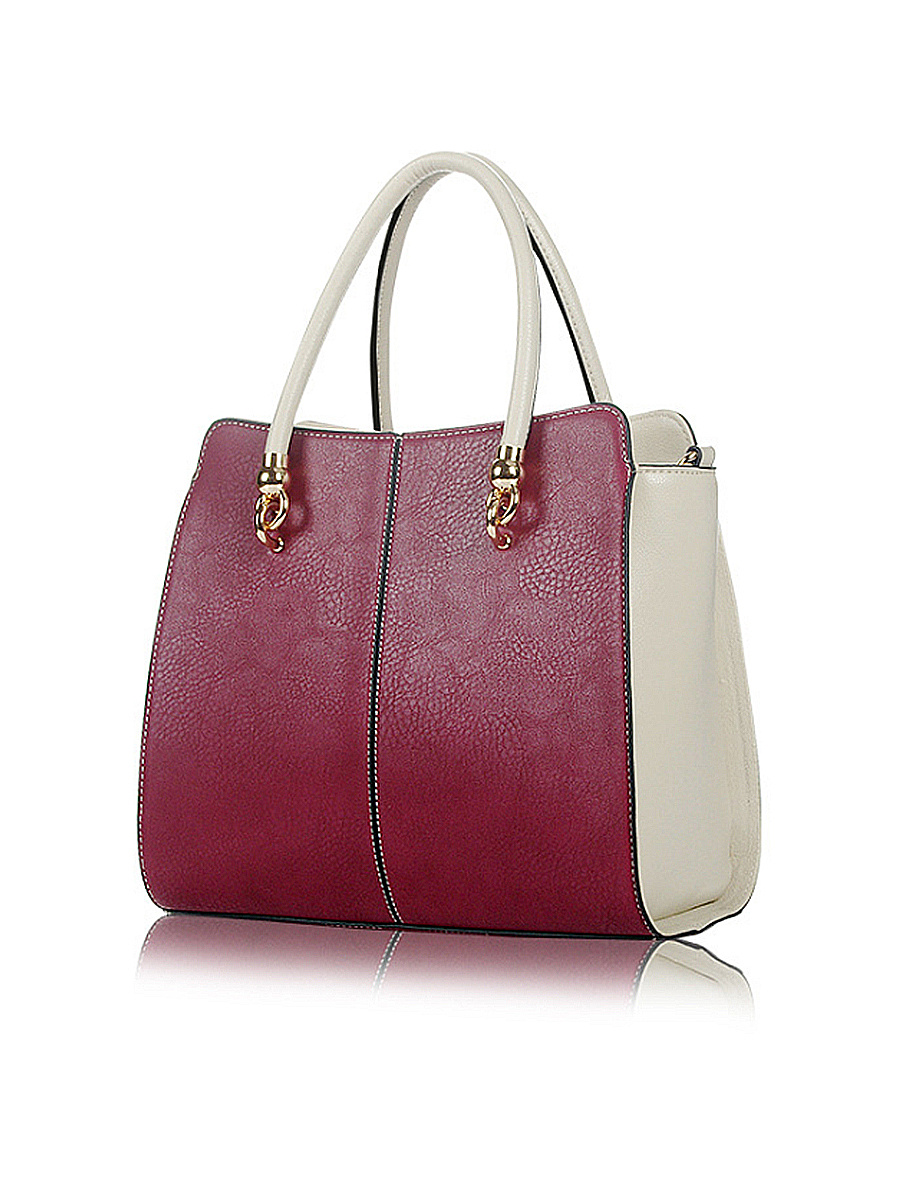 PU Color Block Hand Bags
