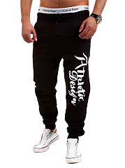 Men's Casual Letters Printed Jogger Pants