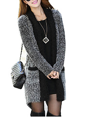 Patch Pocket  Plain  Long Sleeve Coats