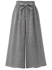 Plain-Belt-Elastic-Waist-Wide-Leg-Casual-Pants