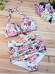 Printed  High-Rise Bikini