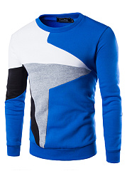 Round Neck  Color Block Men T-Shirt