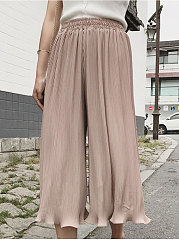 Lightweight  Plain  High-Rise Casual Pants For Women
