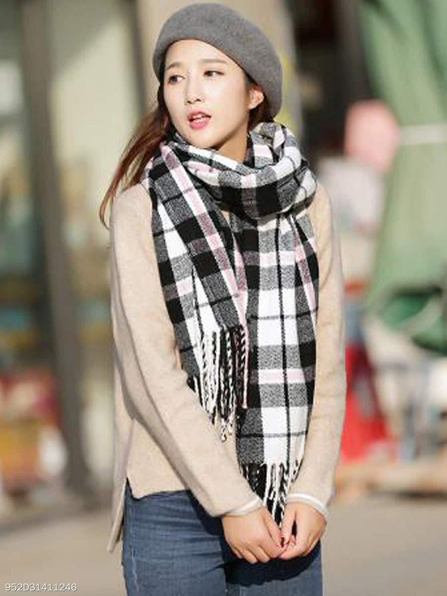 Winter Warm Suede Asymmetric Strip Scarf