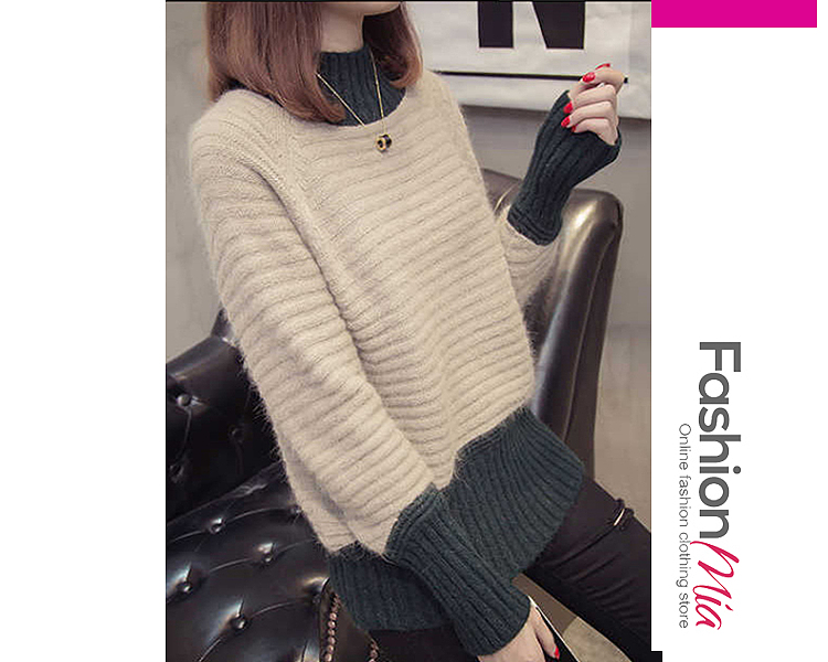 material:knit, collar&neckline:high neck, how_to_wash:cold  hand wash, supplementary_matters:all dimensions are measured manually with a deviation of 2 to 4cm., package_included:top*1, lengthsleeve lengthbust