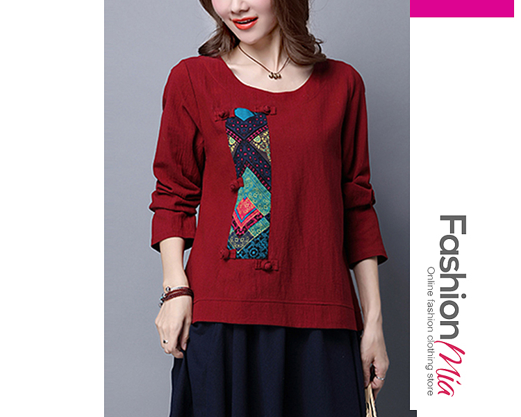 sleeve_length:m:57,l:58,xl:59,xxl:60, sleeve:long sleeve, material:cotton/linen, pattern_type:printed, occasion:casual*vacation, collar&neckline:round neck, shoulder:36,bust:98,length:67,