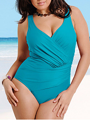 V-Neck Plain Plus Beachwear
