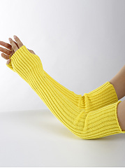 Knitted Warm Long Arm Warmers Fingerless Gloves