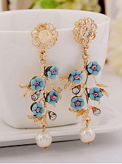 Spring Floral Acrylic Earrings