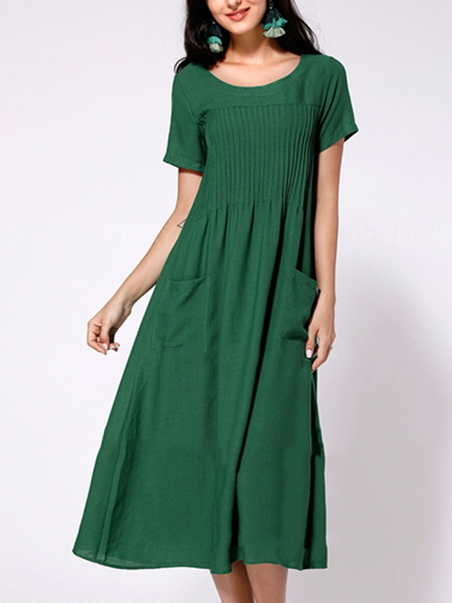 Cotton maxi dresses with pockets