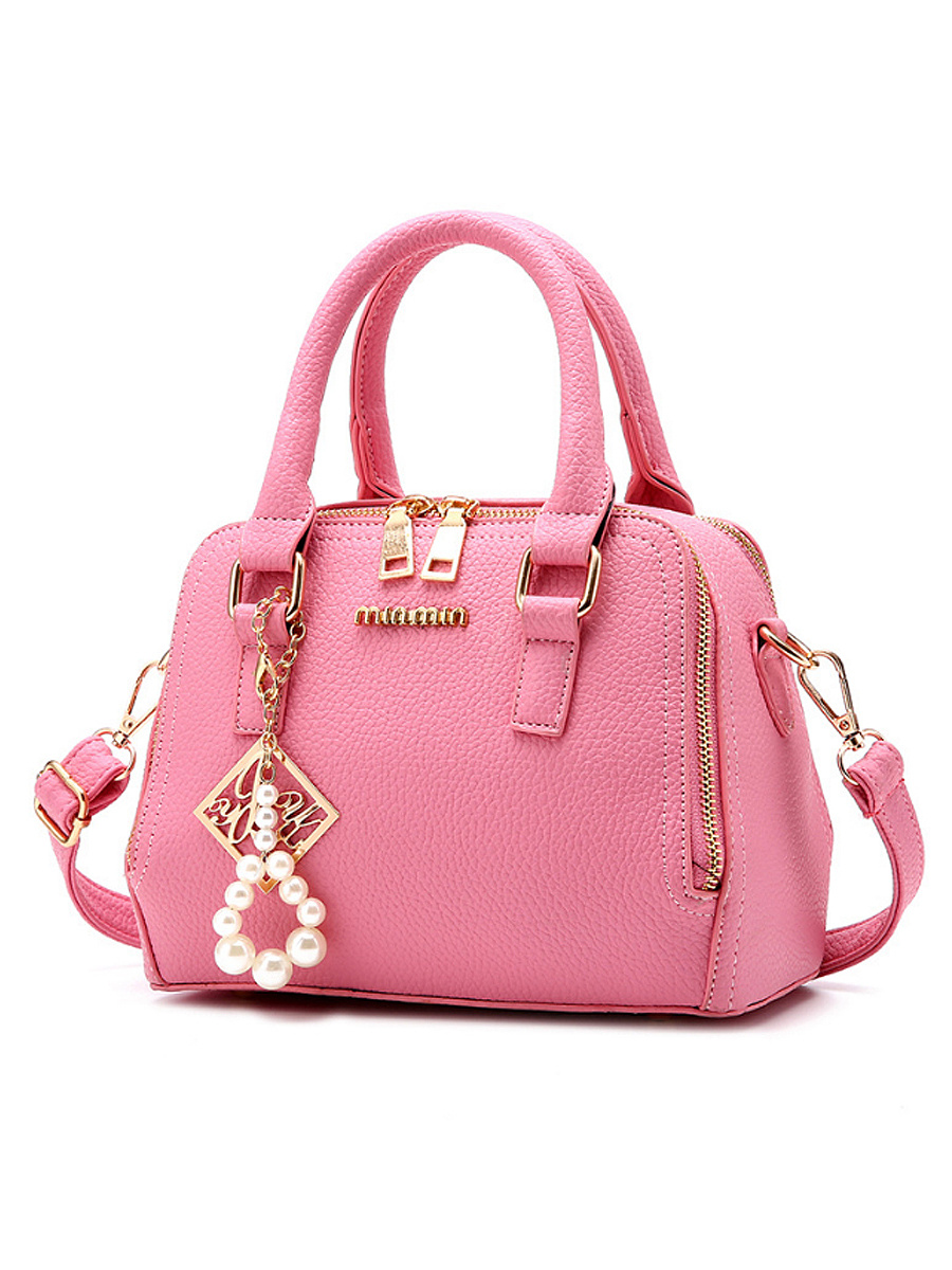 Candy Color Pearl Pu Crossbody Bag