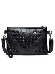Fashion-All-Black-Beading-Fringe-Decoration-Zipper-Clutches
