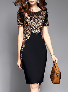 Companies Contrast Trim Patchwork Color Block Maxi Dresses spring fashion