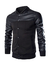 Men-Band-Collar-Patchwork-Zips-Bomber-Jacket