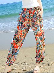 Paisley-Printed-Pegged-Casual-Pants