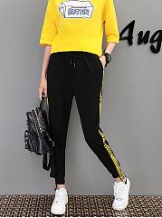 Fashion-Drawstring-High-Stretch-Pegged-Mid-Rise-Casual-Pants
