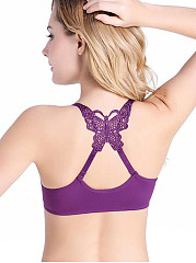 Sexy Front-Closure  X-Back Strap Wireless Allure  Gather Adjustable Bra