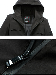 Hooded Plain Men Trench Coat