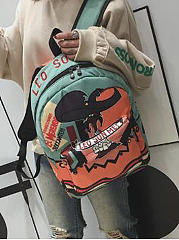 Personality  Stylish Cartoon Graffiti Print Backpack