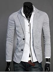 Skinny-Patch-Pocket-Notch-Lapel-Solid-Men-Blazer