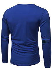 Designed Henley Collar Men T-Shirt