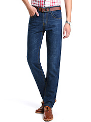Ripped-Light-Wash-Straight-Mens-Jeans