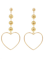 Heart Shape Long Earrings For Women