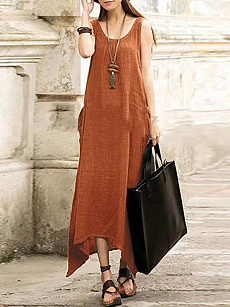 Ancient rome manufacturer Asymmetric Hem Plain Short Sleeve Maxi Dresses xxs