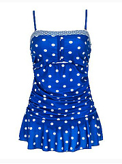 Polka Dot Plus Size Swimwear